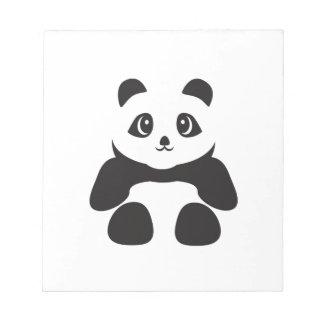 Reizender Pandabär Notizblock