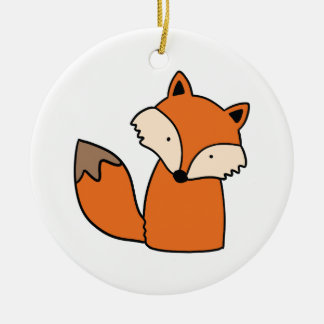 Reizender roter Fuchs Keramik Ornament