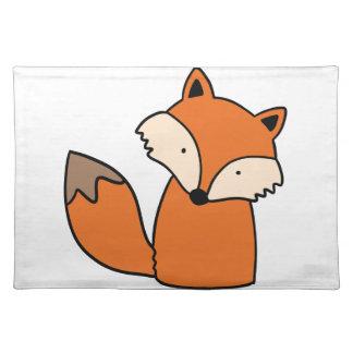 Reizender roter Fuchs Stofftischset