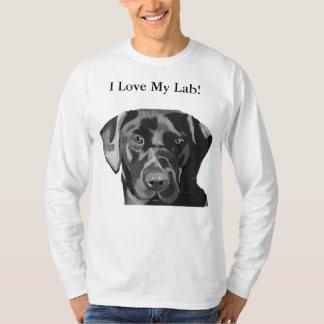 Reizender schwarzer Labrador-Männer Spitzen T-Shirt