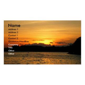 Reizender Sonnenuntergang Visitenkarten