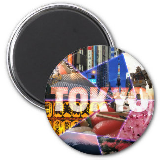 Reizender Tokyo-Runde Magnet Runder Magnet 5,7 Cm