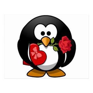 Reizender Valentinsgruß-Pinguin Postkarte
