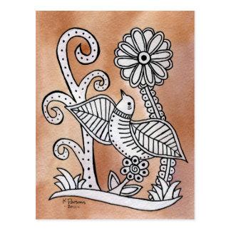 Reizender Vogel, mexikanische Barken-Art Postkarte