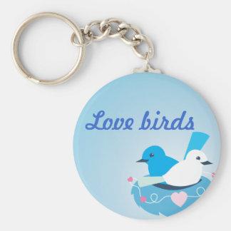 Reizendes blaues Liebevogel-Zaunkönigweiß Schlüsselanhänger