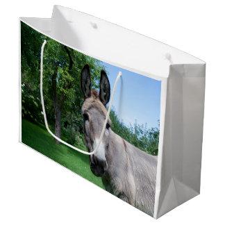 Reizendes Esel-Porträt Große Geschenktüte