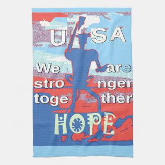 Reizendes Hillary Blau 2016 USA sind wir stärkeres Handtuch