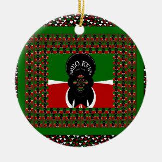 Reizendes Kenia erhitzt Keramik Ornament