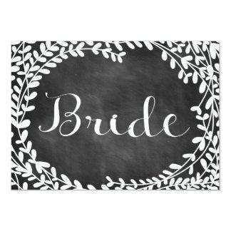 Reizendes Laub-Braut-Zeichen Karte