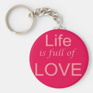 Reizendes Leben keychain Schlüsselanhänger