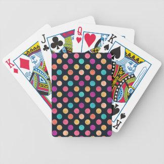 Reizendes Punkt-Muster Bicycle Spielkarten