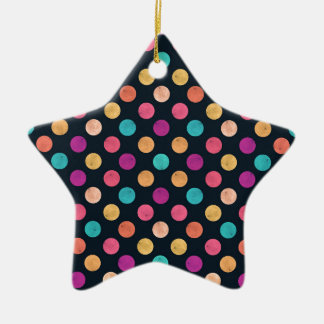 Reizendes Punkt-Muster Keramik Stern-Ornament