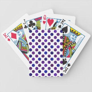 Reizendes Punkt-Muster XV Bicycle Spielkarten