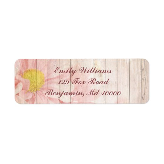 Reizendes rosa Blumen Rückversand-Adressaufkleber