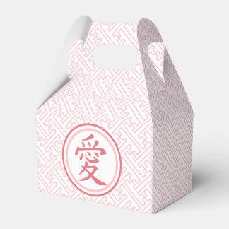Reizendes rosa Kanji Geschenkschachtel