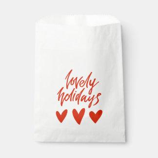 Reizendes Rot-Herz-Weihnachten der Feiertags-| Geschenktütchen