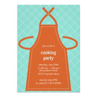 Reizendes Schürze-Sommer-Party/kochen Party 12,7 X 17,8 Cm Einladungskarte