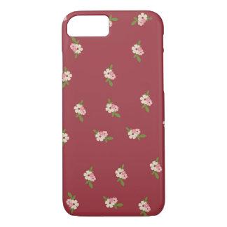 Reizendes Vintages Blumen-Muster iPhone 8/7 Hülle