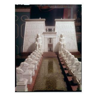Rekonstruktion des großen Tempels von Amon, Postkarte