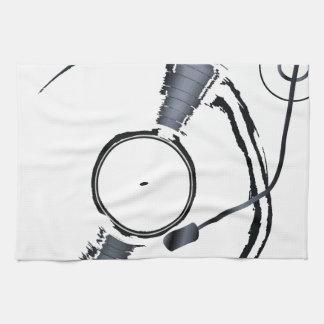 Rekordplattform-Hintergrund Handtuch