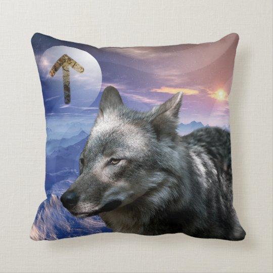 Relax-Kissen Krafttier Wolf Kissen