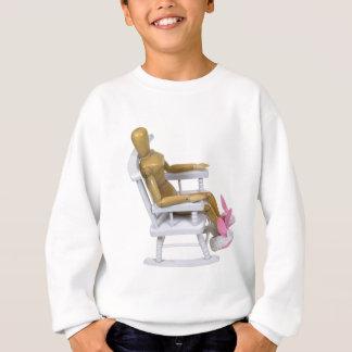 RelaxingBunnySlippers121909 Sweatshirt
