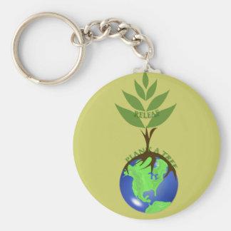 ReLeaf Pflanze ein Baum Standard Runder Schlüsselanhänger