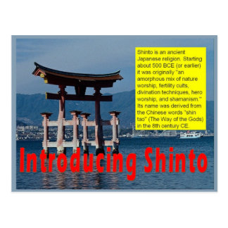 Religion, Einführung shintoistisch Postkarte