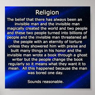 Religion erklärt poster