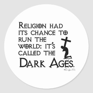 Religion gab uns die Mittelalter 2 Runder Aufkleber