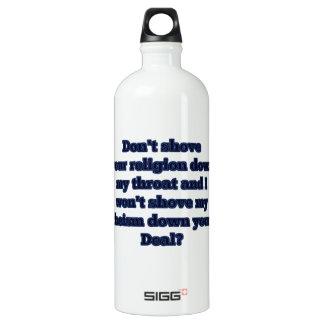 Religion GEGEN Atheismus, Teil 2 Aluminiumwasserflasche