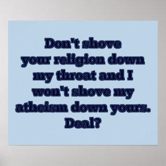 Religion GEGEN Atheismus, Teil 2 Poster