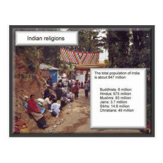 Religion in Indien, Statistiken Postkarte