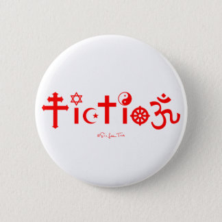 Religion ist Fiktion Runder Button 5,7 Cm