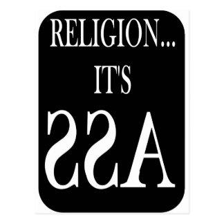 Religion ist rückwärts postkarte