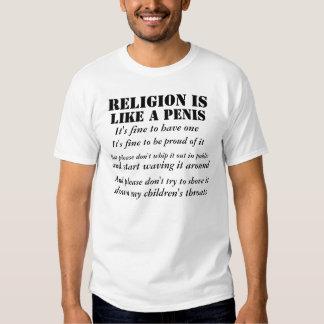 RELIGION IST WIE ein PENIS Shirt