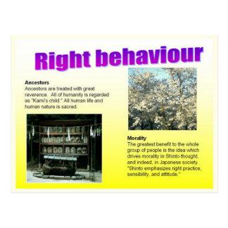 Religion, Japan, shintoistisches rechtes Verhalten Postkarte