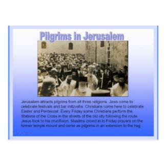 Religion, Pilger in Jerusalem Postkarte