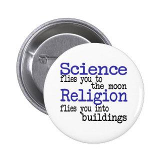 Religion und Wissenschaft Anstecknadel