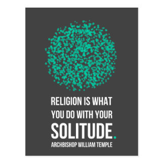 Religions-Einsamkeits-Erzbischof William Temple Postkarte