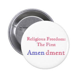 Religiös amen runder button 5,1 cm
