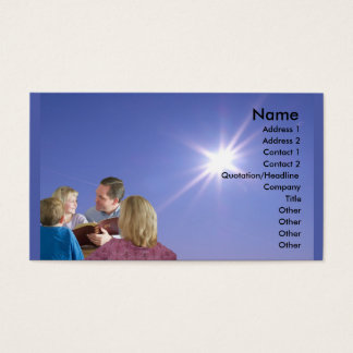 Religiös Visitenkarte