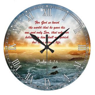 Religiöse Bibel-Zitat-Vers Personalizable Uhr