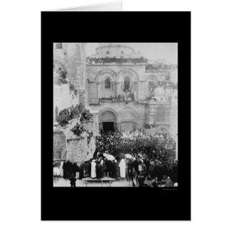 Religiöse Feier in Jerusalem 1880 Karte