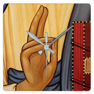 Religiöse Handzeichen-Kunst Quadratische Wanduhr