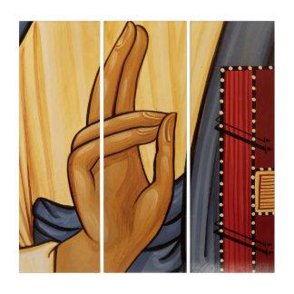 Religiöse Handzeichen-Kunst Triptychon