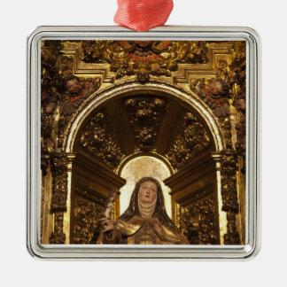 Religiöse Kunst, die Sankt Teresa 2 darstellt Silbernes Ornament