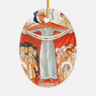 Religiöse Malerei Ovales Keramik Ornament