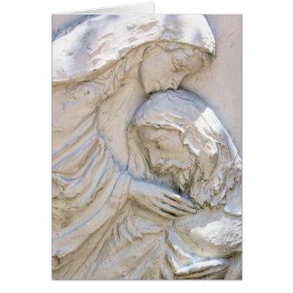 Religiöse Ostern-Karte Christus und Mary Karte