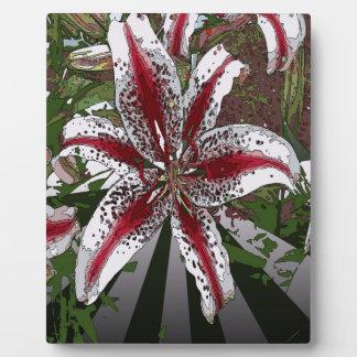 religiöse Ostern-Segenrosa-Orientale-Lilie Fotoplatte